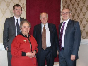 Lord Neuberger, third from left, with members of the Liberal Democrat Lawyers Association committee